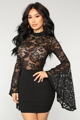 Fame Monster Dress - Noir - Fashion Nova