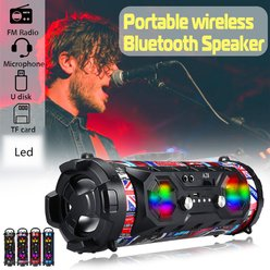 Coloré LED Portable Haut-parleur Bluetooth Stéréo Bluetooth Stéréo Super Bass Boombox AUX USB FM TF - Generic