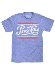 Tee shirt Luv Retro avec logo Pepsi Cola (Royal Snow Heather) - Tee Luv