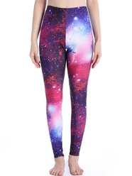 LELINTA Pantalon Collants Femme Galaxy Automne Galaxy Space Star Print - Lelinta